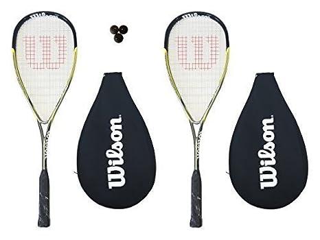 2 x Wilson Ripper 135 BLX raquetas + tapa + 3 pelotas de Squash ...