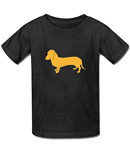 (Beatles Rock Youth Fashion Dachshund-Animal-Silhouette tshirt black)
