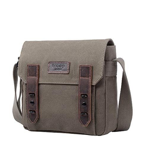 For Men Shoulder Across Troop Bag Leather Heritage Travel Bag London And Work Canvas Body Women Trp0491 qRwvpPxq
