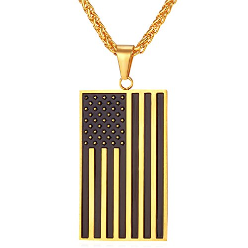 American Jewelry Stainless Rectangle Necklace