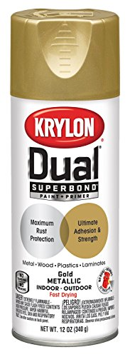 Metallic Car Paint - Krylon K08845001 Dual Superbond Paint + Primer Metallic Finish, Gold, Gloss, 12 ounce