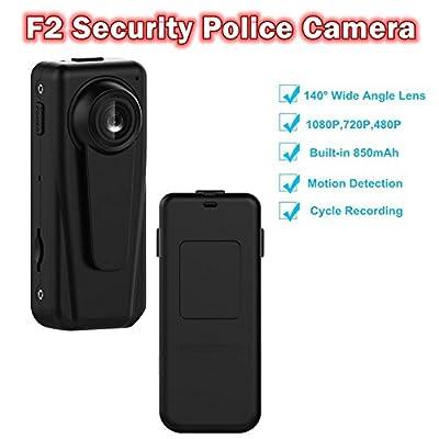 Blueskysea F2 Security Police Camera HD 1080P DV Video Recorder Portable Clips Body Worn DVR 140 Degree w/850mAh Battery