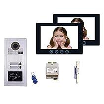 2 Tenant Apartment Building Entry MT Series Multitenant Video Intercom System Kit Keyless