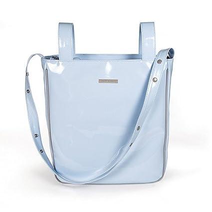 Pasito A Pasito - Bolsa Panera Charol Azul Tweed Baby (Tw ...
