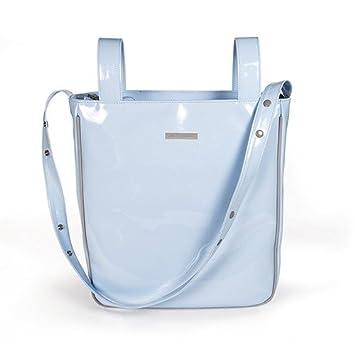 Pasito A Pasito - Bolsa Panera Charol Azul Tweed Baby (Tw): Amazon.es: Bebé