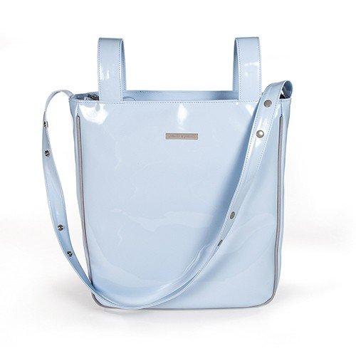 Pasito A Pasito - Bolsa Panera Charol Azul Tweed Baby (Tw) 109400