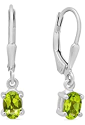 Peridot Earrings in Sterling Silver Leverbacks (1ct total weight)