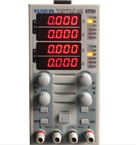 TOPCHANCES 220V KP284 Dual Channel 400W 80V 40A Adjustable LCD DC Electronic Load