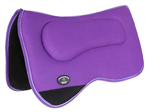 CHALLENGER Equine Western Horse Saddle PAD 24″ x26 Anti Slip Memory Foam Pony Purple 3964PRP