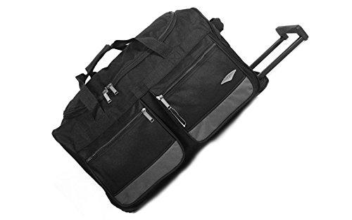 Wheeled Large Grey Suitcase Small Bag 40