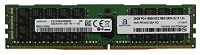 Samsung Original 32GB (1x32GB) Server Memory Upgrade Compatible for Dell Poweredge & HP Proliant Servers DDR4 2400MHZ PC4-19200 ECC Registered Chip 2Rx4 CL17 1.2v RAM Adamanta