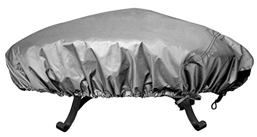 Leader Accessories 100% Waterproof Heavy Duty Outdoor Patio Round Fire Pit Cover 60 Inch in.D
