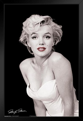 (Pyramid America Marilyn Monroe Red Lips Hollywood Sex Symbol Actress Legend Photograph Photo Framed Poster 14x20 inch)