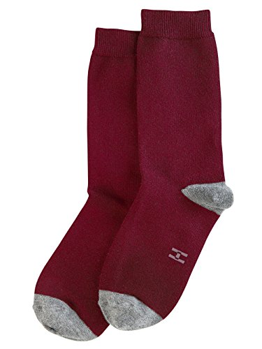Hue Women's Casual Crew Sock – 18417, Sangria, Medium
