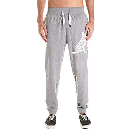 HEHESELL Mens Sweatpants Sport Print Casual Solid Loose Trousers Jogger Pants German Shepherd White
