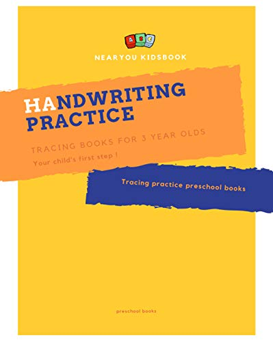 Handwriting practice tracing books for 3 year olds: Tracing practice preschool books for 3, 4, 5, 6, 7 , 8 year ()