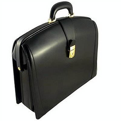 Old Leather Partners Laptop Briefcase Color: Black by Bosca