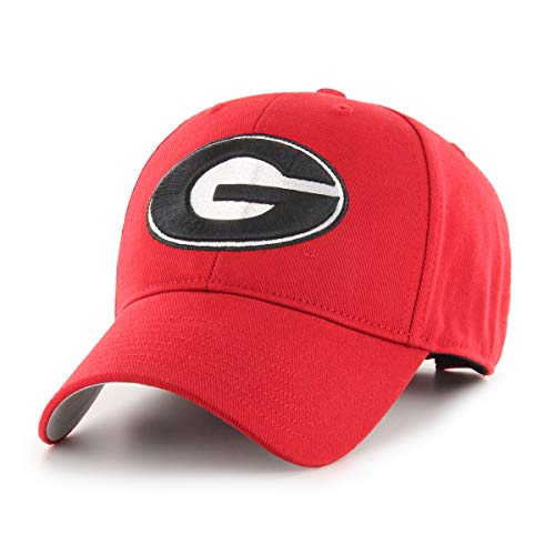 NCAA Georgia Bulldogs OTS All-Star MVP Adjustable Hat, Red, One Size
