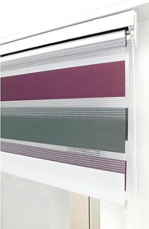 Estor Noche y día Enrollable a Medida Basic Tricolor Violeta ...