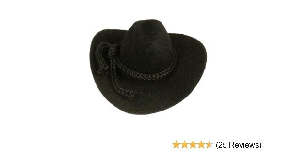 8248294f22a23 Amazon.com: 12pcs Mini Cowboy Hat Western Wedding Favors Decoration 2 Black  by CalCastle: Kitchen & Dining
