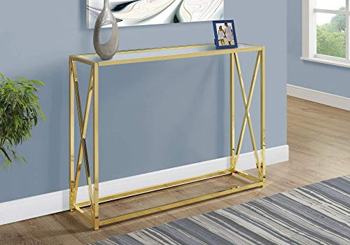 Monarch Specialties I I 3446 Accent, Console Table, Gold (Console Table Color)
