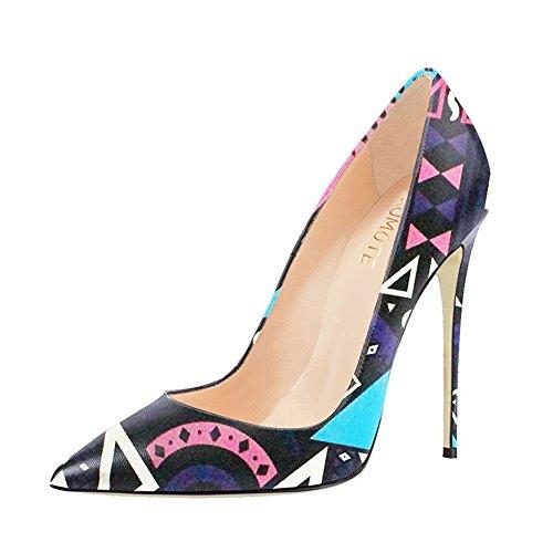 MERUMOTE - Zapatos de vestir de Material Sintético para mujer 46 Lila Totem