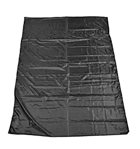 "Marycrafts Artificial Silk Double Sleepsack Sleeping Bag Liner 83""x59"" Black"