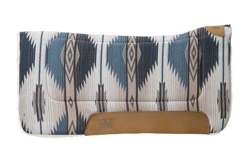 Weaver Leather All Purpose Contoured Saddle Pad - Felt Insert and Merino Wool Fleece Bottom (Pad Wool Western)