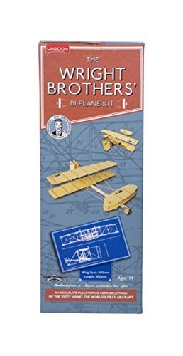 (The Wright Brother's 41 piece Bi-Plane Kit - An Accurate fully-flying reproduction of the