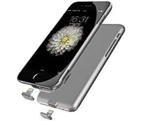 Apatner Ultra Thin Battery Case Charger Rechargeable Battery Backup Power bank Charger For iPhone6/6s/7 4.7inch(Silver)