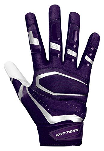 (Cutters Gloves, Purple/White, Small (Renewed))