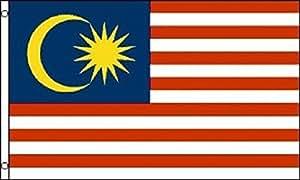 3x 5bandera de Malasia Malasia país Banner Pennant colores vivos y ultravioleta resistente a la decoloración–cabecera y doble costura poliéster materia