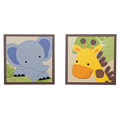 Bedtime Originals Jungle Buddies Wall Decor, Brown/Yellow from Bedtime Originals