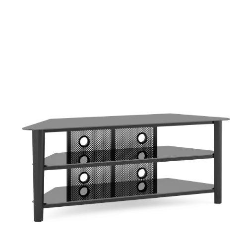 CorLiving TAL-604-T Alturas Veneer TV Stand, 60-Inch, Black