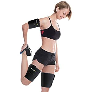 Bracoo Adjustable Arm & Thigh Slimming Bands, Burn Calories Faster, 4-Piece Set, for Men & Women