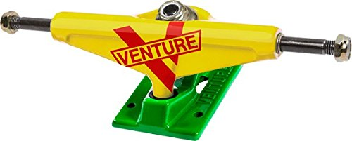 Venture LO 5.0 Marquee Rasta Yellow/Kelly/Red Skateboard Trucks (Set of 2)