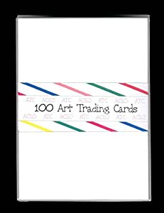 100 BLANK WHITE ACEO ATC ARTIST TRADING CARDS ~ DRAWING CARDSTOCK