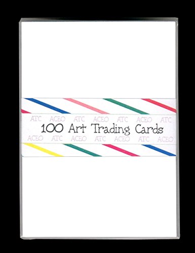100 BLANK WHITE ACEO ATC ARTIST TRADING CARDS ~ DRAWING CARDSTOCK (Aceo Original Art)