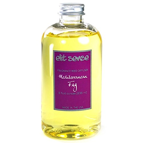 Elit Sense 8 oz Reed Diffuser Scented Oil Refill - Fruity (Mediterranean Fig) (Refill Mediterranean Fig)