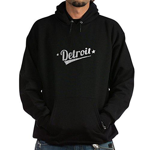 CafePress Distressed Retro Detroit Logo Hoodie - Pullover Hoodie, Classic & Comfortable Hooded Sweatshirt