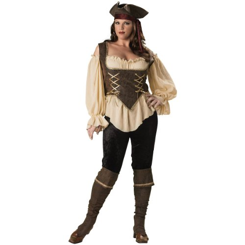 Rustic Pirate Lady Adult Costume - Plus Size 3X