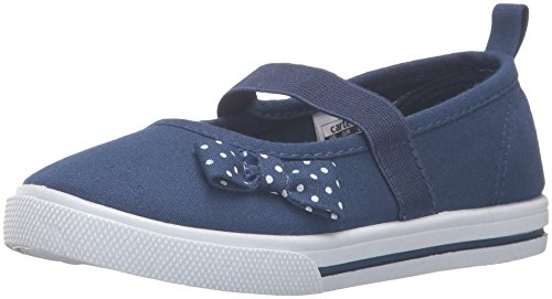 carter's Girls' Smily Mary Jane, Navy, 6 M US Toddler