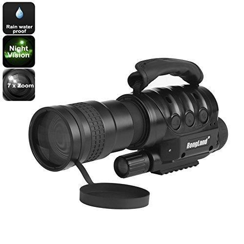 Night Vision Monocular - 7x Zoom, 1000m Detection Range, Weatherproof, Built-in Camera, 16GB External Memory, CCD Sensor by Gorilla Market