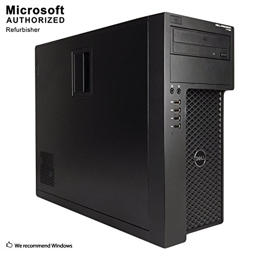 2018 Dell Precision T1700 Tower Workstation Intel i7 i7-4770 3.40 G,16G,360G SSD+2T,Radeon HD 4650 1G VC,DVD,WiFi,HDMI,DP Port,VGA,BT 4.0,W10P64 (Certified Refurbished)-Support-English/Spanish from Dell
