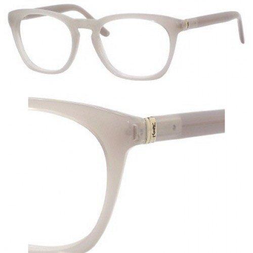 YSL Men's Eyeglasses 50 Greige