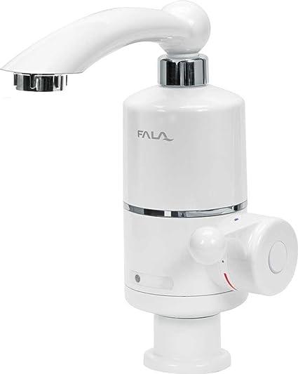 fala grifo con calentador 3 KW 220 V para lavabo montaje 360 ° giratorio grifo eléctrico