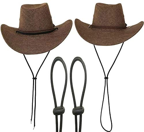 (Pack of 2) Adjustable Elastic Hats Removable...