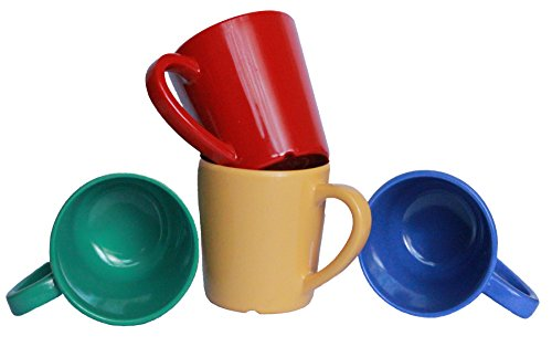 Break resistant BPA FREE, NSF Certified Melamine Mugs 7 Ounce Assorted Colorful set of 4