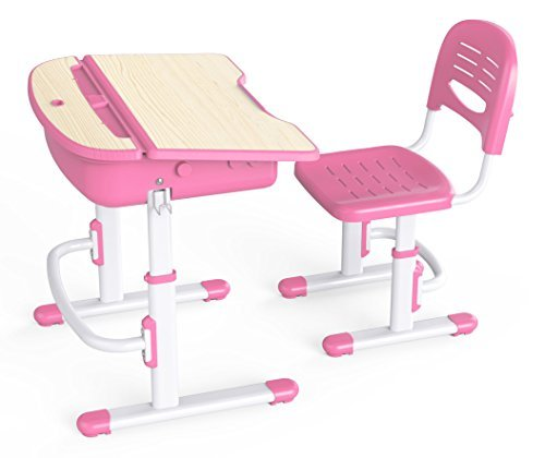Wymo Kidz Ergonomic Kids Study Desk & Chair Pink
