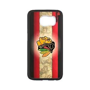 Custom Chicago Blackhawks Phonecases Case for SamSung Galaxy S6(Laser Technology)